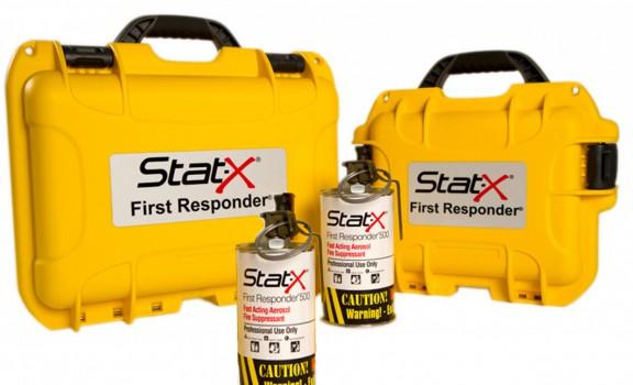 2 unités Stat-X First Responder avec boitier de transport de couleur jaune